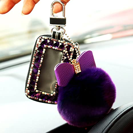 Amazon.com: ygmoner coche llavero con Fuzz Balón Ladies ...