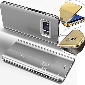 EMAXELERS Galaxy S6 Edge Funda, Funda Samsung Galaxy S6 Edge Espejo Caja de Maquillaje con Marco
