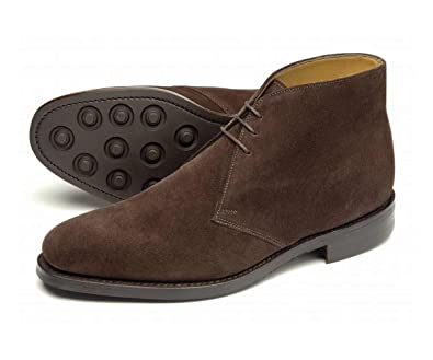 Loake Pimlico Mens Dark Brown Suede Chukka Boots: Amazon.co.uk ...