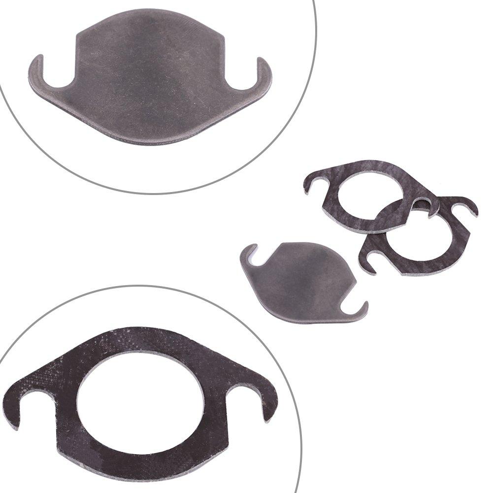 Qiilu Kit de Plaque Obturation de Vanne EGR avec Joint