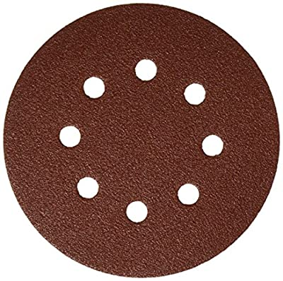 Bosch SR5R082 Random Orbit Sander Hook and Loop 8 Hole Disc 5-Inch 80 Grit Sand Paper, Red, 25-Pack
