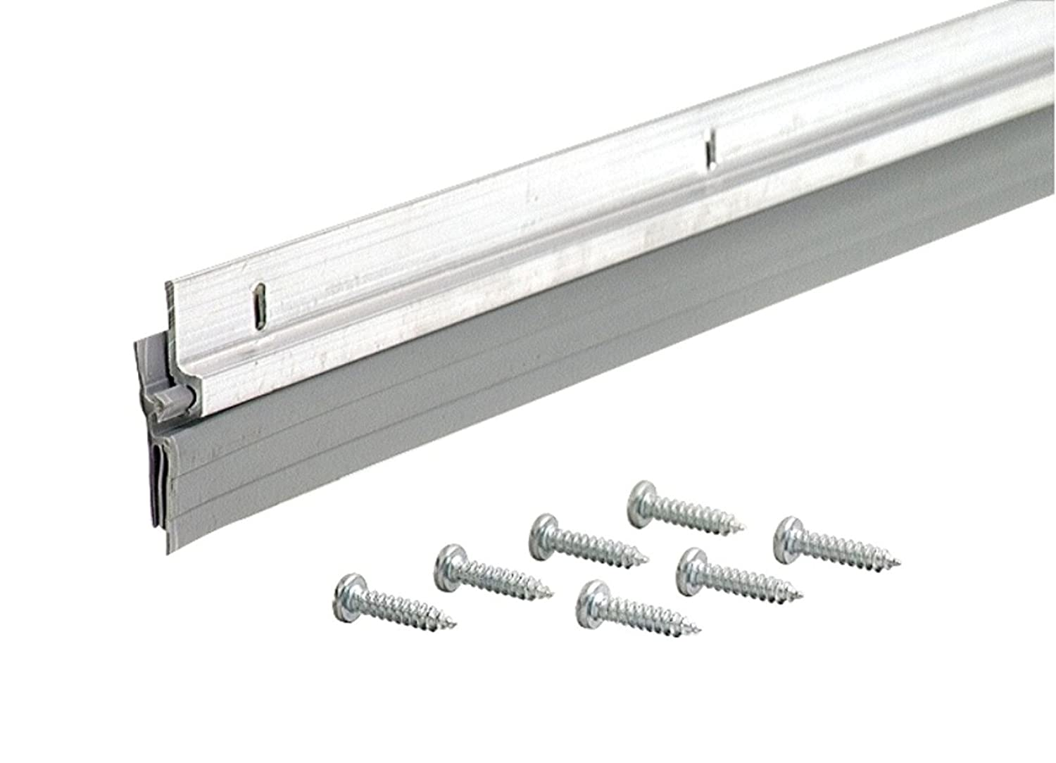 M-D Building Products 5090 Triple Fin Door Sweep DV-1 36-Inch Silver - Pocket Door Hardware - Amazon.com