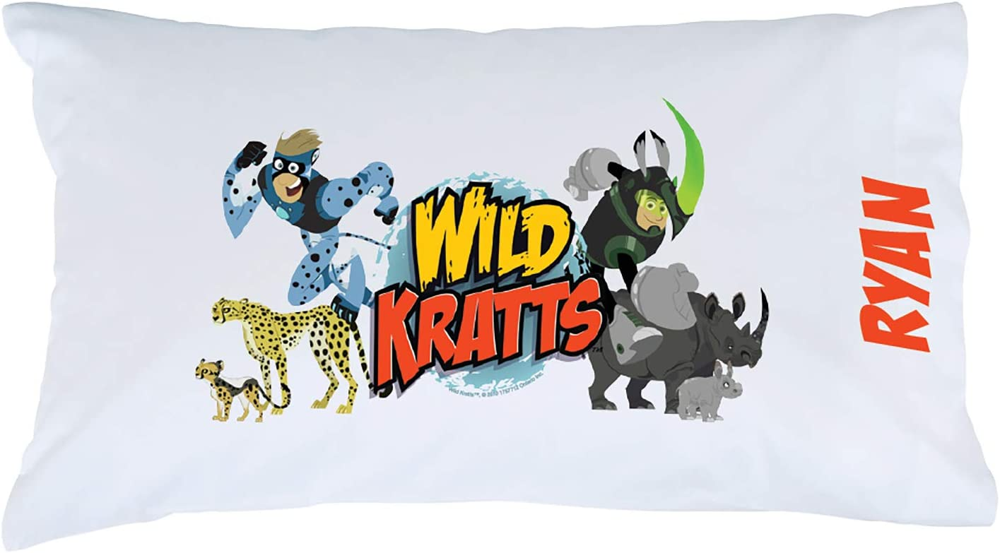 Creature Power on White Cover Personalized Wild Kratts Pillowcase 20x31 STD//Queen Official Licensed Product