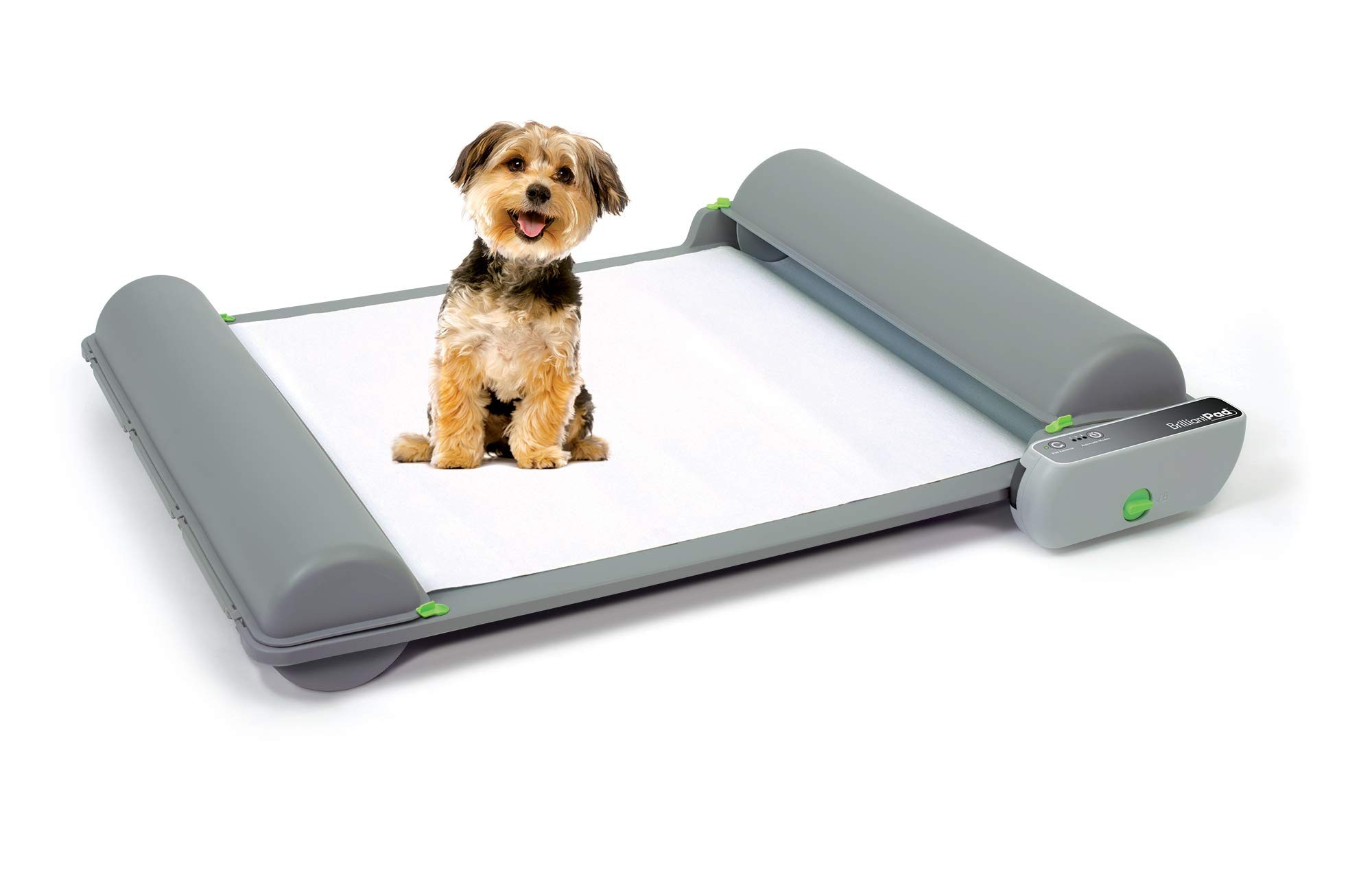 BrilliantPad - Automatic Self-Cleaning Indoor Potty for Puppies and Small Dogs – 2.0 Machine with 1 Roll