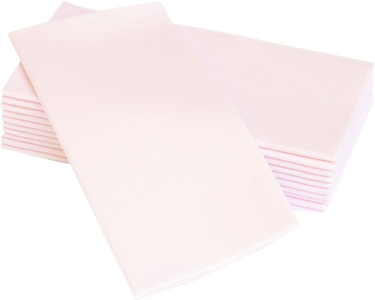 Simulinen Colored Napkins - Decorative Cloth Like & Disposable, Dinner Napkins - Light Pink, Soft, Absorbent & Durable - 16