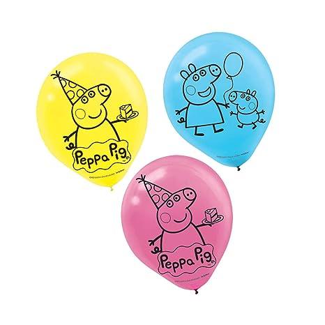 Hk Balloons Peppa Pig Latex Balloon Medium Multicolour Pack Of 30
