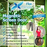 Kyпить Flux Phenom Reinforced Magnetic Screen Door, Fits Door Up To 38 x 82-Inch на Amazon.com