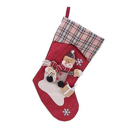 ttnight funny christmas socks christmas supply decor big size stereo santa claus gift candy bag - Funny Christmas Socks