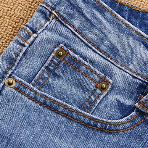 Crayon Jeans pantalon Femmes Pantalons Trou Bleu XL Toamen extensible Denim dchir Bleu pour taille haute rntrqI