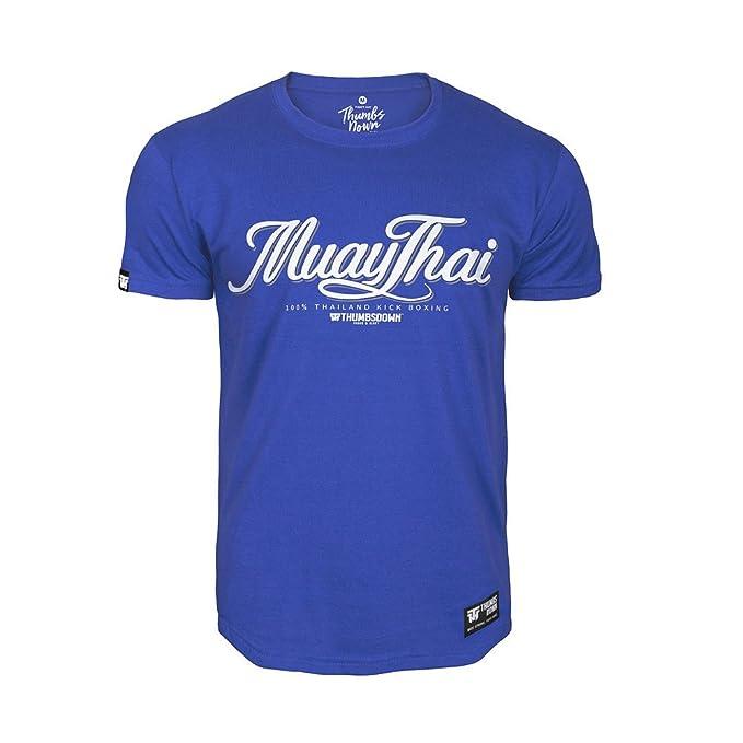 Pulgares Down Muay Tailandés Camiseta Tailandia Patada Boxeo MMA. Gimnasio Entrenamiento. Marcial Artes Informal bzp5gWSSt