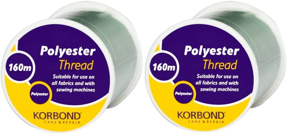 Tailoring No Shrinkage for Hand Sewing Machines Korbond Twin Pack 320m Chestnut Brown All Purpose Polyester Thread Repairs and Embellishment Quilting Ideal for Mending Crafting