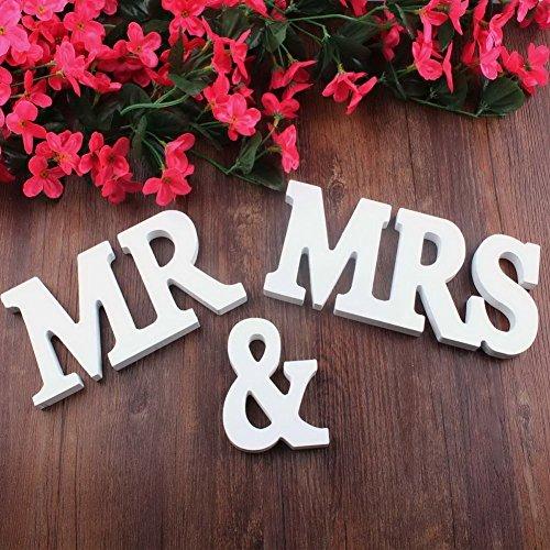 Dgq mr mrs wooden letters for wedding decoration present for Shoulder decoration 9 letters