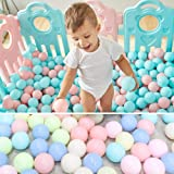 Mazhashop 100pcs 5.5CM Colorful Ball Fun Ball Soft Plastic Macaroon Ocean Ball Baby Kid Toy Swim Pit Toy(Blue, Green, Pink)