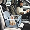 WOPET Durable Pet Booster Seat,Dog Protector Car Seat with Adjustable Safety Straps and Zipper Storage Pocket-Suitable for Small and Medium Pets up to 20 lbs(Grey)