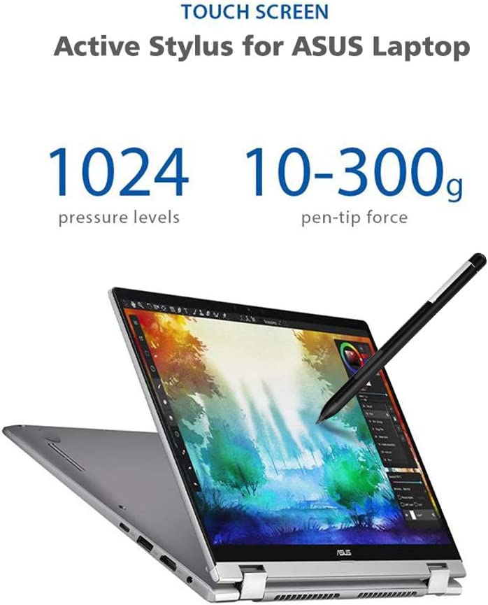 Broonel Black Fine Point Digital Active Stylus Pen Compatible with The ASUS ZenBook UX534FT-A9011T Notebook PC 15