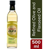 Saffola Aura Refined Olive & Flaxseed Oil, 500 ml
