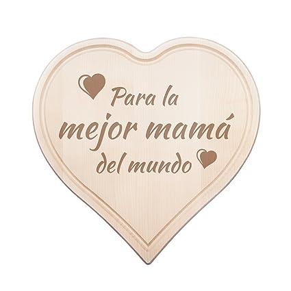 Casa Vivente Tabla De Cortar Con Grabado Para La Mejor Mamá Del Mundo Motivo Corazones Regalo Ideal Para El Día De La Madre