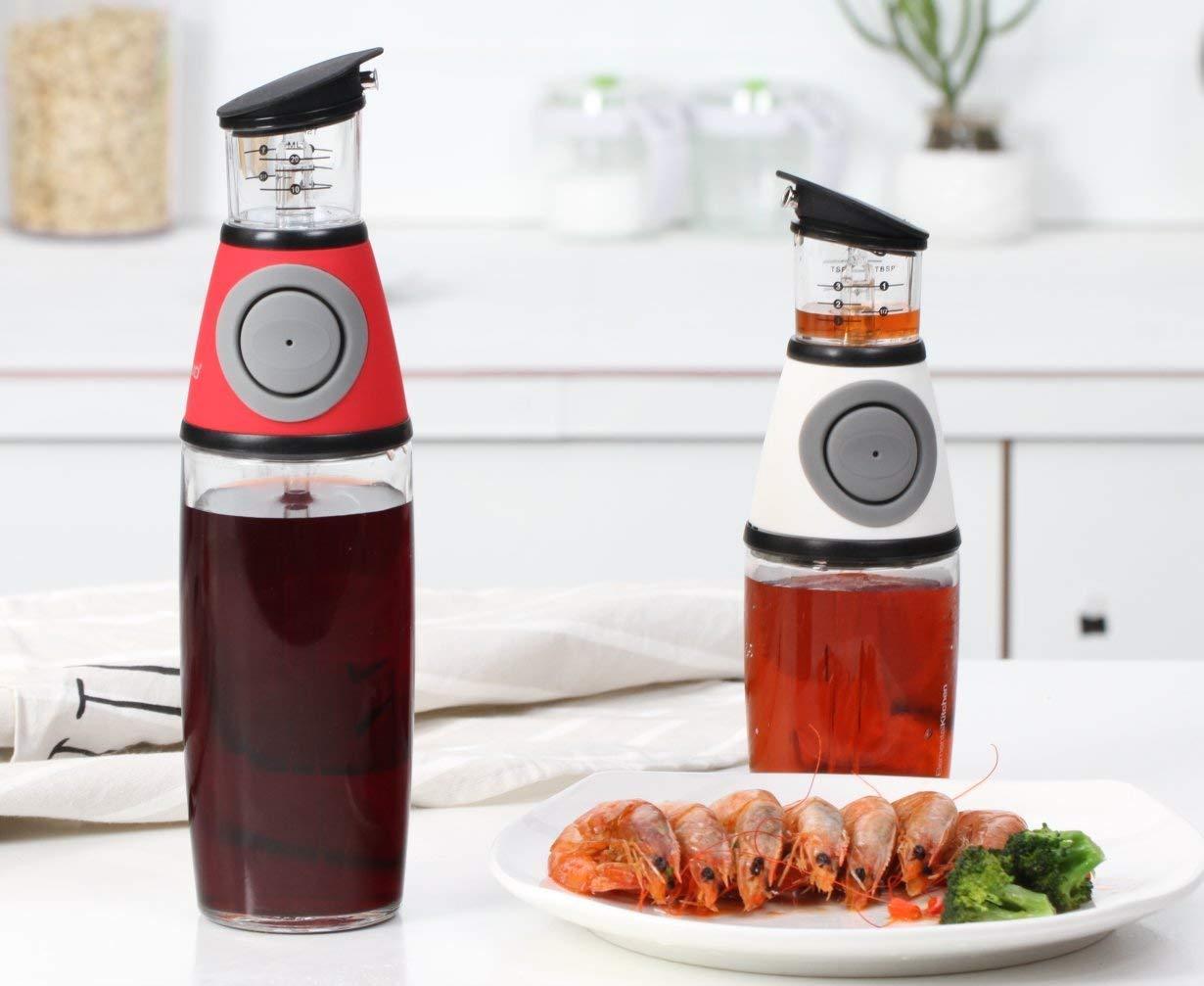 Amazon.com: Olive Oil Dispenser Bottle - MAXZONE Oil Spray Bottle with NoOil Pourer Dispensing Bottles for Kitchen - Olive Oil Glass Dispenser to Measure ...