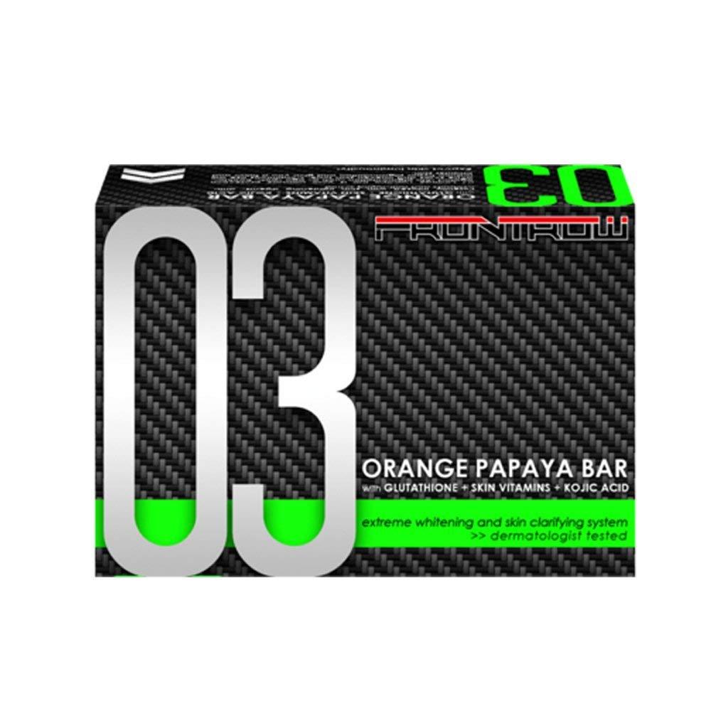 FrontRow 03 Orange Papaya Bar with Glutathione + Skin Vitamins + Kojic Acid