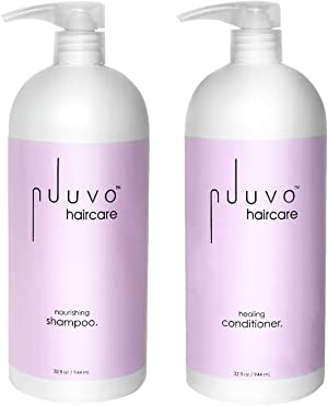 Nuuvo Haircare Salon Professional Nourishing Shampoo & Healing Conditioner Set - Lightweight, Plant Based Duo to Repair, Cleanse, Nourish & Replenish Your Hair. Sulfate & Paraben Free - No Animal Testing - 32oz