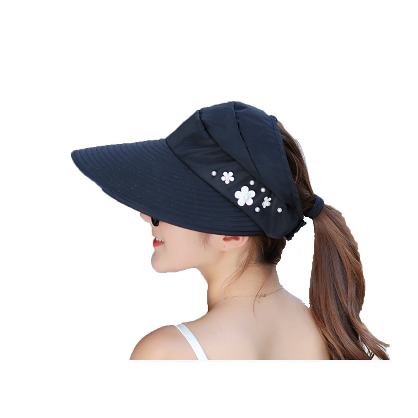 ULUIKY Western Style Women Summer Anti - Uv Road Cycling Sun Hat Beach Sun Hat (5-0)