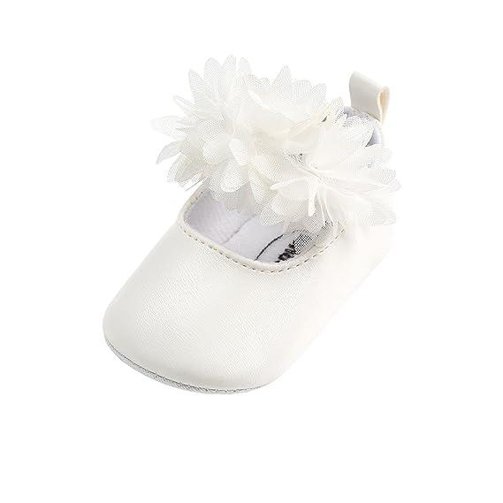 Sandalias de Recién Nacido Zapatos Primeros Pasos Bebe Niña Forma de Flores Antideslizante Zapatos❤️Lonshell: Amazon.es: Ropa y accesorios
