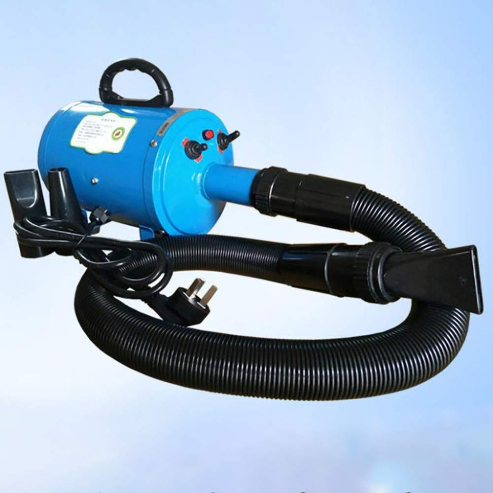bluee ZHONGYI666 Dog Dryer,1200whigh Power Pet Grooming Hair Dryer, Stepless Adjustable Speed Blower Heater With 3 Wind Concentratorsintelligent Uniformity Portable Family