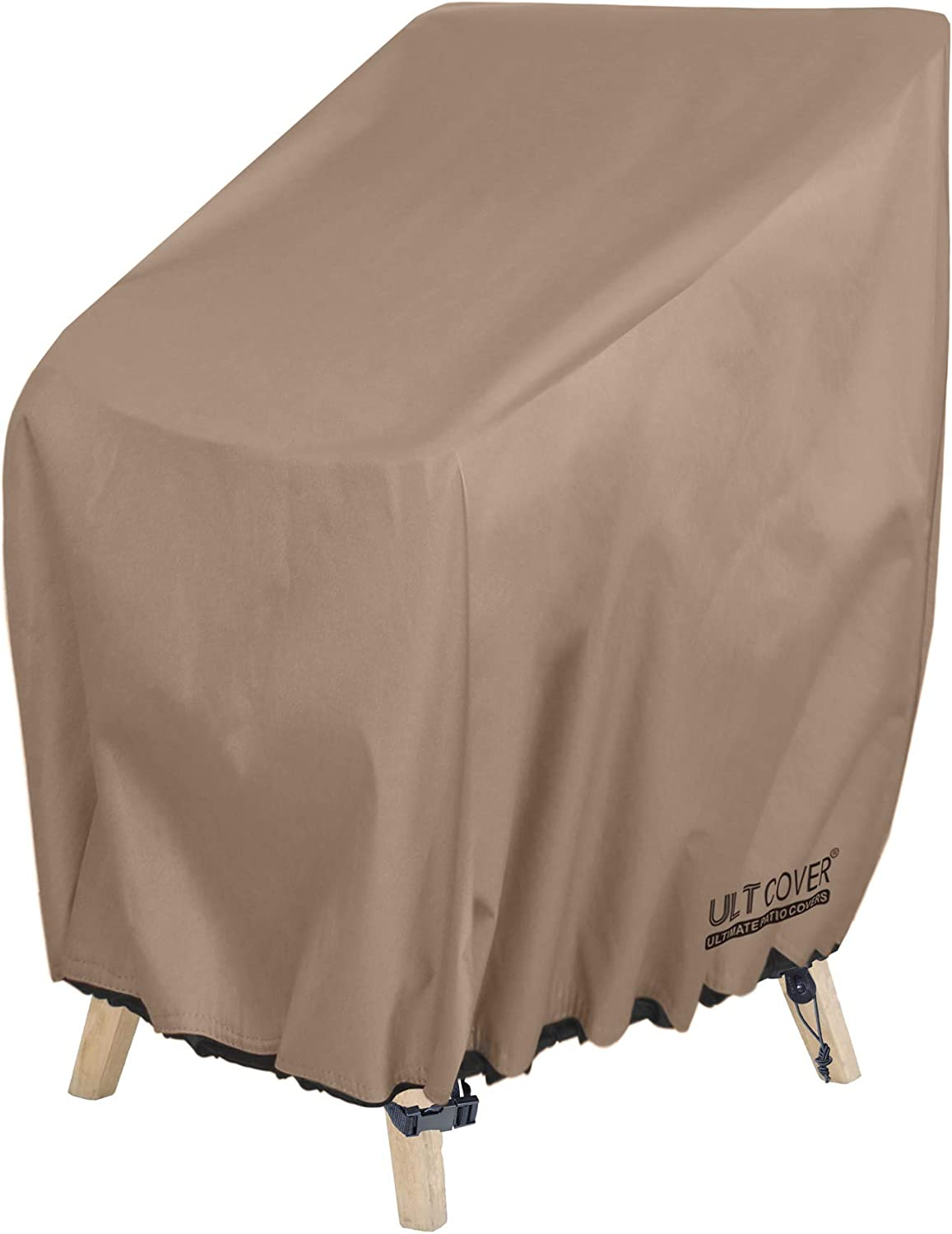 ULTCOVER Stackable Patio Chair Cover – Waterproof Outdoor Stack of Chairs Cover Fits Up to 26L x 34W x 45H inches