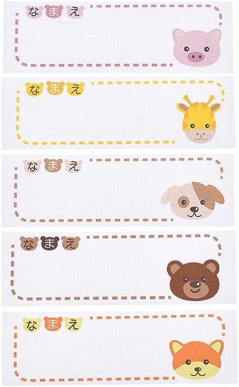 Kesheng - Juego de 6 etiquetas para nombre de animales, para ...