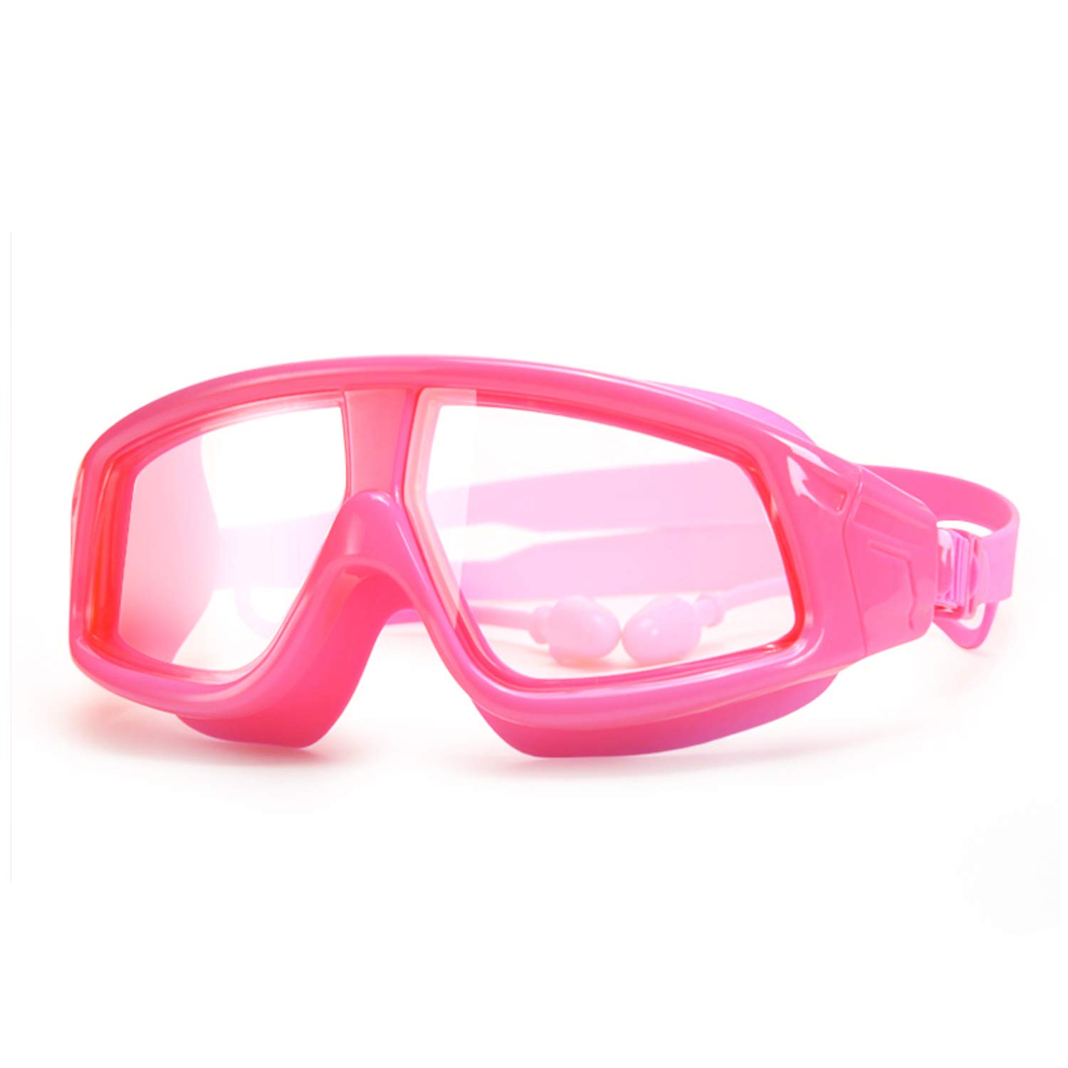 Kids Swim Goggles, Swimming Goggles for Kids 3-12 Years with Anti-Fog UV Protection No Leaking Earplugs for Boys Girls Youth