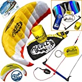 HQ Hydra II 300 V2 Kiteboarding CX Trainer Kite Bundle : (5 Items) Includes 2ND Control Bar Kite : CX 1.5M Foil Control Bar Trainer Kite + WindBone Kiteboarding Lifestyle Decals + WindBone Kitesurfing Key Chain + WB Kiteboarding Koozy Cooler : Water Trainer Foil Traction Power Kite