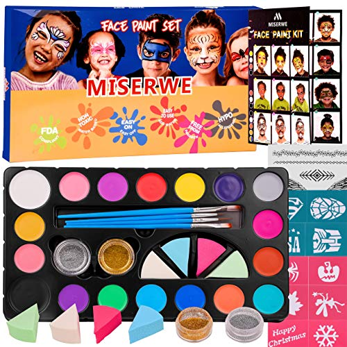 Miserwe Face Paint Kit-18