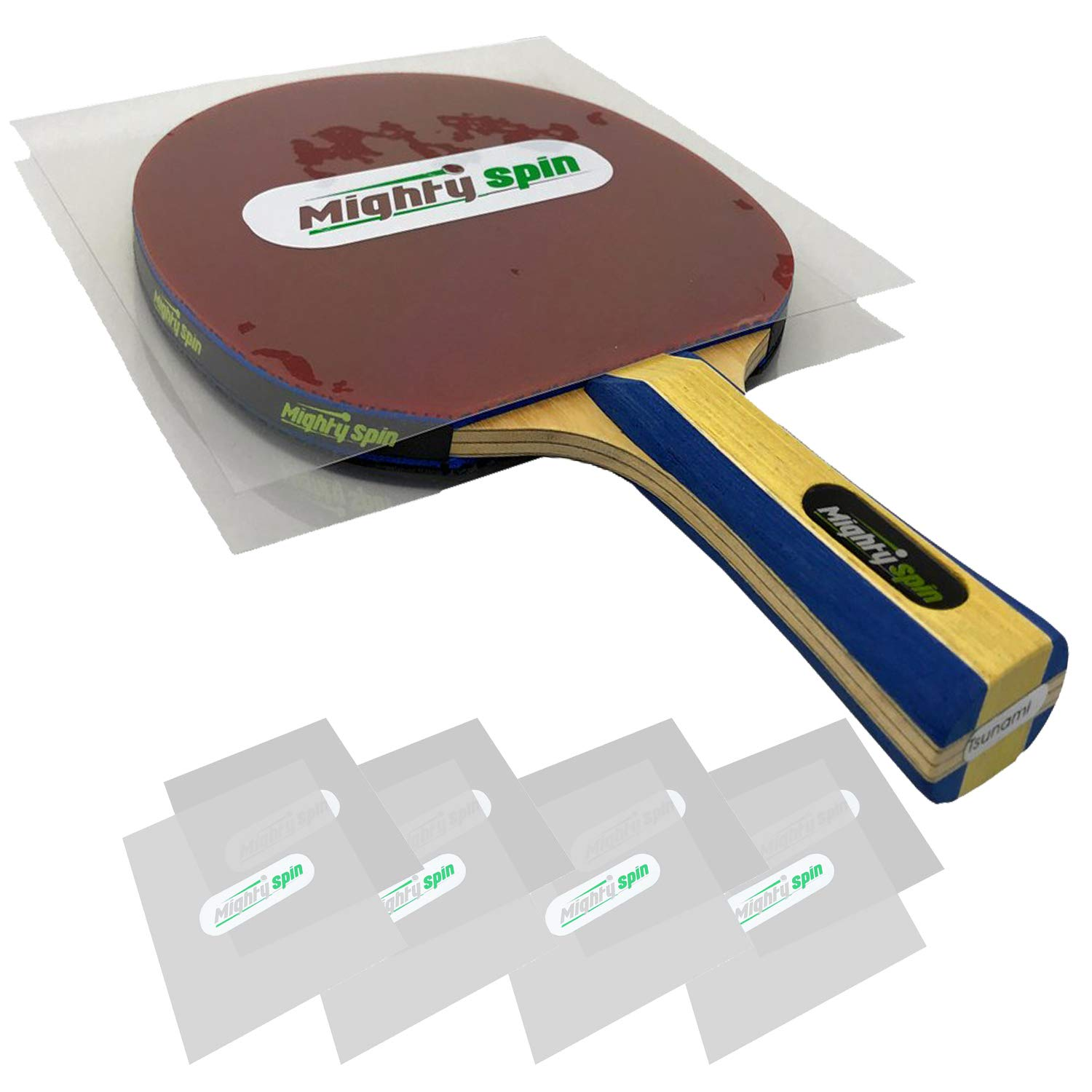 MightySpin Ping Pong Paddle Protector - Table Tennis Accessories Racket Rubber Protection Sheet - Protective Film