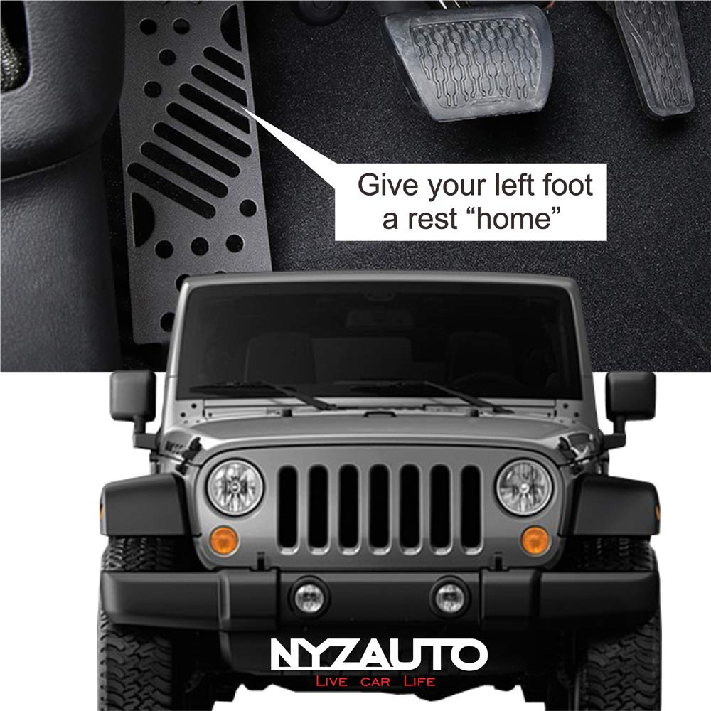 MOEBULB Left Foot Rest Pedal for 2018 2019 Jeep Wrangler JL JLU /& Unlimited Foot Pegs Kick Panel Steel Iron