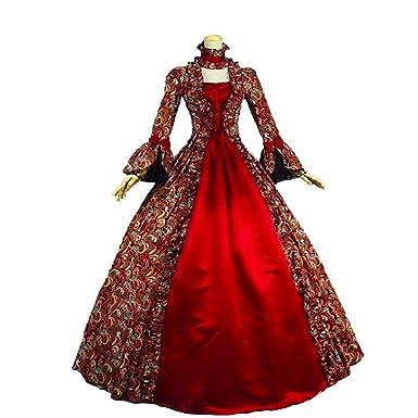 KEMAO - Disfraz de rococó Victoriana para Mujer - Rojo - Hecho a ...