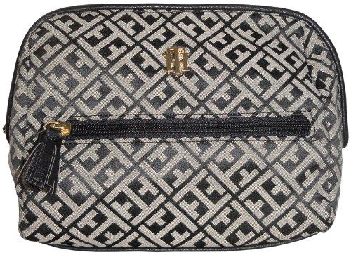 Tommy Hilfiger Women's Cosmetic/Make-up/Toiletry Bag, Black Alpaca