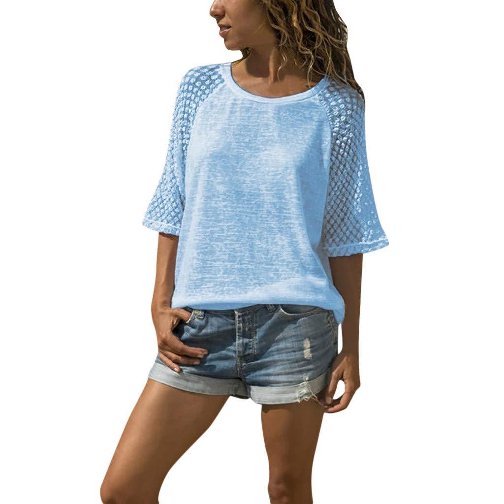 Women Long Sleeve Shirt Casual Cute Cotton Star Pattern Sweat Fashion T-Shirt Blouses Tops