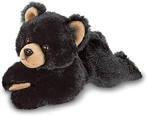 Bearington Lil' Smokie Small Plush Stuffed Animal Black Bear, 9 inches