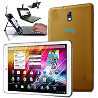 Indigi 7 Android 4.2 Jelly Bean Tablet PC Tab Google Play Premium Leather GOLD