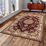 Msrugs Traditional Oriental Medallion Red Beige Area Rug Persian Style Rug For Sale