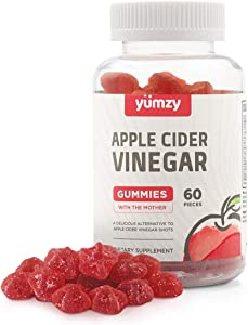 Yumzy Apple Cider Vinegar (ACV) Gummies - Gluten Free, Vegan, and Organic - Contains The Mother