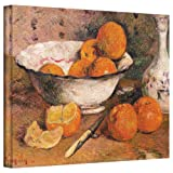 Paul Gauguin 'Still Life with Oranges' gallery-wrapped canvas is a high-quality canvas print that captures the vibrant colors of citrus. The Impressionists and Post-Impressionists were inspired by nature's color schemes but reinterpreted nature with ...