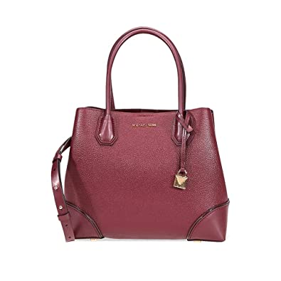 c95000e59b6f Michael Kors Mercer Gallery Medium Leather Satchel- Oxblood  Amazon ...
