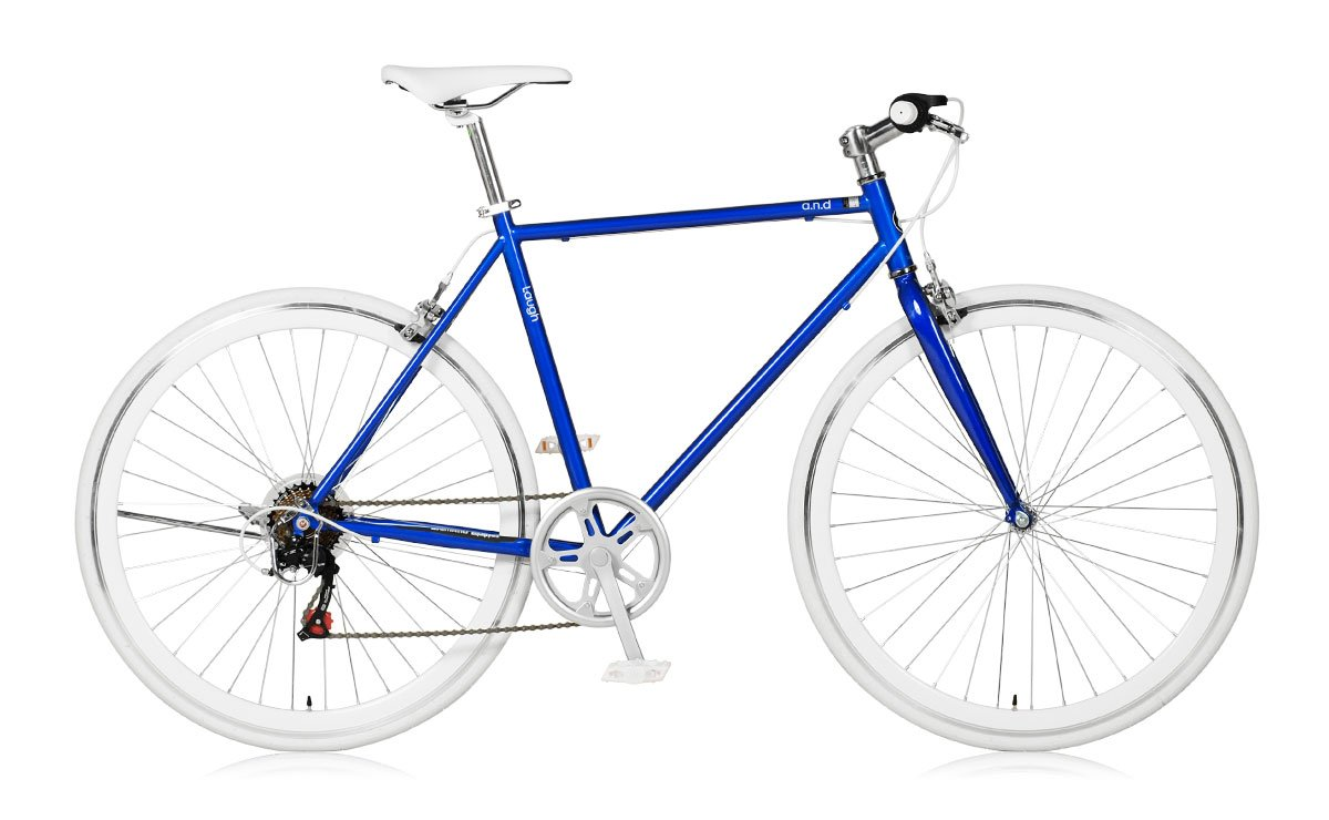 アウトレット 【a.n.design works】(エーエヌデザインワークス) Laugh537 ラフ ジャパンブルー 700c 165cm~ B01MYXGBAK