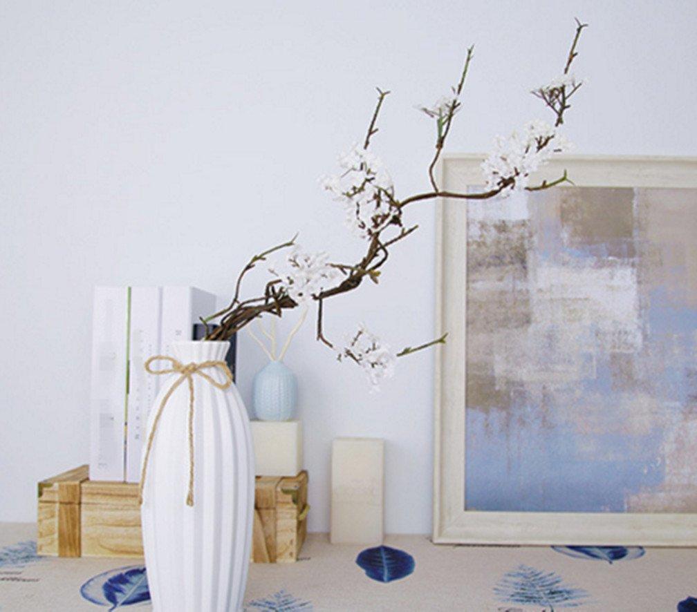 skyseen 3pcs人工桜枝桜花Arrangements forホームウェディング装飾、ホワイト B07B6K1CDR