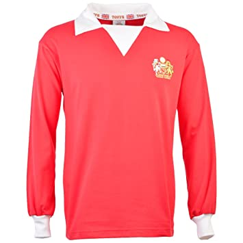TOFFS Manchester United 1970s Long Sleeve Retro Football Shirt (SMALL) ee85d4127