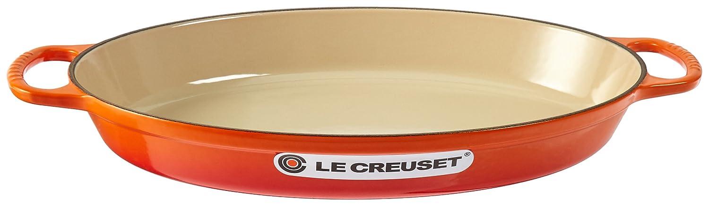 Le Creuset Enamel Cast Iron Signature Oval Baker, 1 quart, Caribbean LS2088-2417