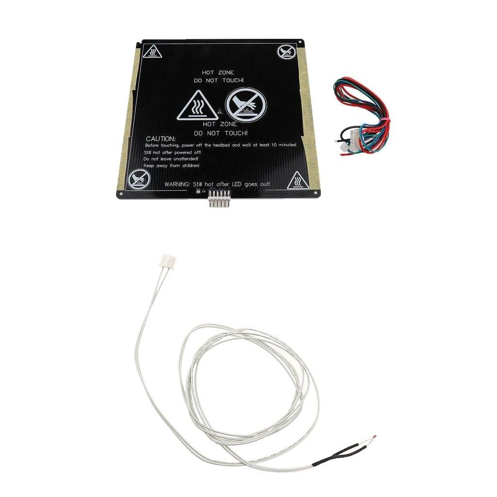 Sharplace Professionnel 12v MK3 Plateau Chauffant en Aluminium Lit Heat 220 x 220x3mm + Thermistance Câble 1m pour Imprimante 3D