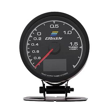 7 Colores LED Indicador Turbo Boost Medidor para Carrera de Coches con Sensor y Soporte: Amazon.es: Coche y moto
