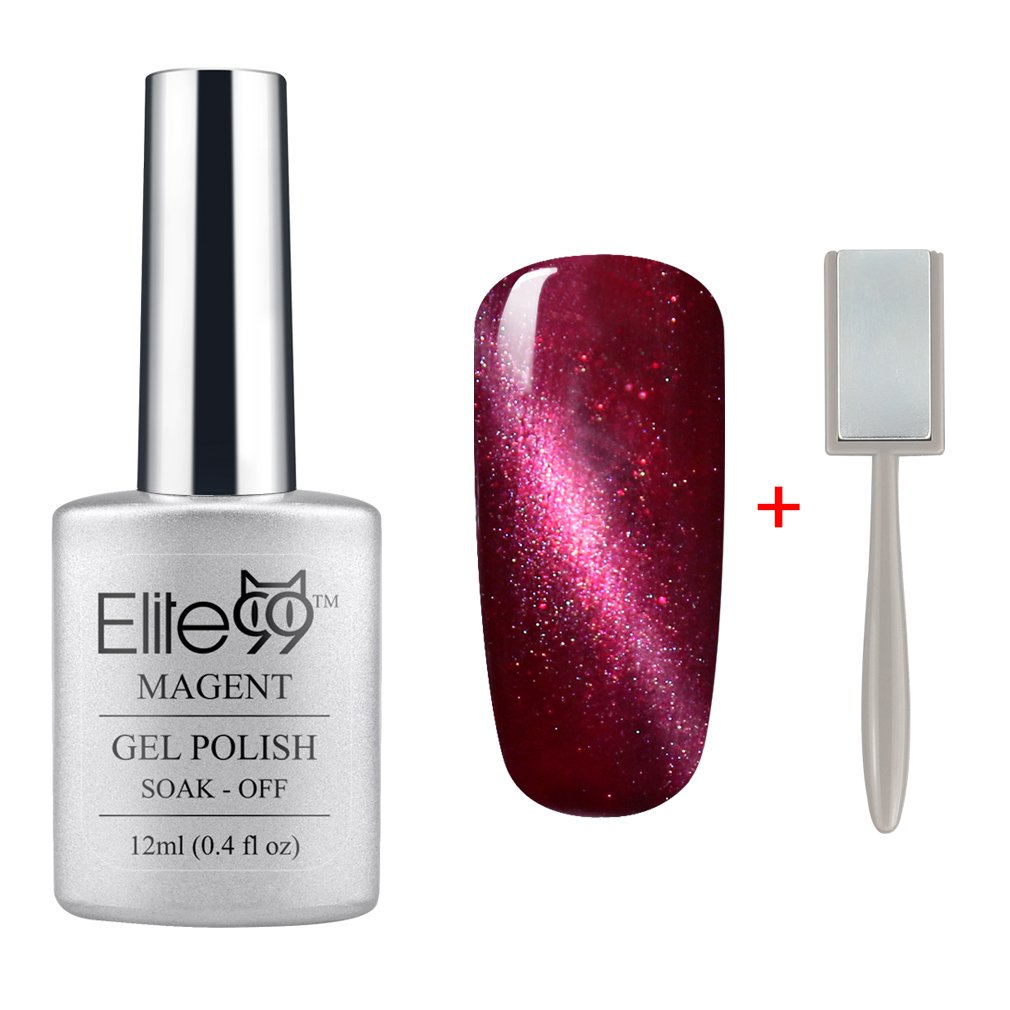 Amazon.com : Elite99 Magnetic 3D Cat Eye Gel Polish Soak Off UV LED ...